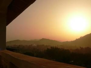 sunset from HVB